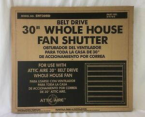 30 Belt Drive Whole House Aluminum Fan Shutter Use With Attic Aire