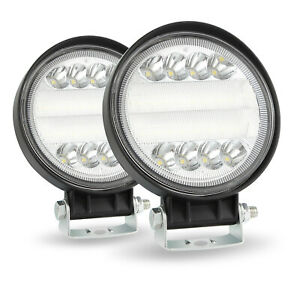 2pcs 5 72w Led Work Light Spot Beam Driving Fog Lamps Off Road Car Jeep Truck