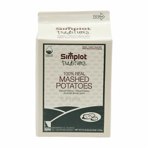 Simplot Traditions Dry Mashed Potato 3 24lbs pack Of 6