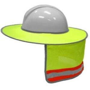 2873 6 Full Hard Hat Accessories Brim Sun Shield Color Lime 3 Pack Include