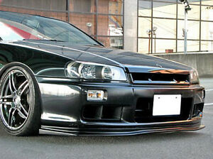 Front Bumper Lip For Nissan Skyline R34 Gtt D1 Style Fiber Glass Frp