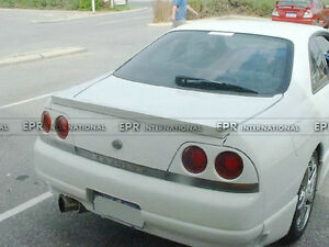 Rear Trunk Spoiler Drift Wing Lip Parts For Nissan R33 139 X10x79 Frp
