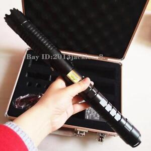 High Power 450nm 5000lm Blue Laser Pointer Pen Adjustable Focus Burning 2x26650