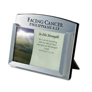 Lighthouse Christian Products Facing Cancer Metal Scripture Card Holder 3