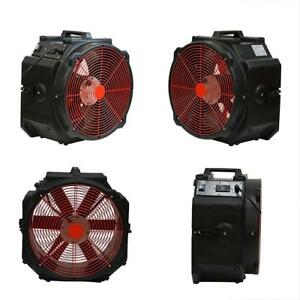 Mt4000a 1 4hp Categories 4000cfm Axial Air Mover Floor Dryer black
