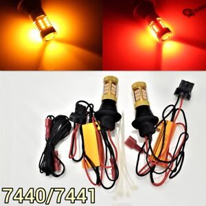 Reverse Backup Tail Light T20 7440 7441 992 Amber Red Switchback Led M1 Mar