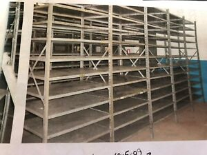 Industrial Shelving With 8 Shelves Gently Used