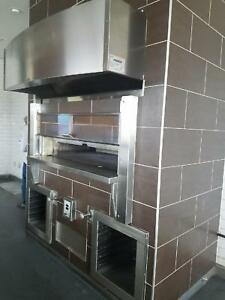 Used Wood Stone Pizza Fire Deck Oven Model Ws 8645 rfg lr ir ng