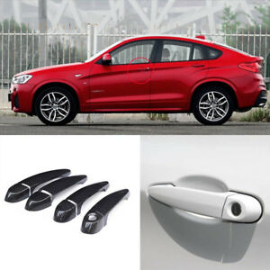 Carbon Fiber Exterior Door Handle W o Smart Key Cover Trims For Bmw X4 F26 14 15