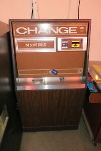 Rowe Bc 25 Bill Changer With Mars Bill Acceptor Coins Or Tokens Works Great