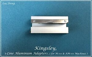Kingsley Machine 1 line Aluminum Adapters Hot Foil Stamping Machine