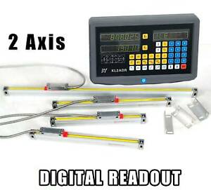 2 Axis Digital Readout Dro W Precision Linear Scale Fits Milling Lathe Machine