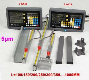 2 3 Axis Digital Readout 5um Linear Scale Dro Display Cnc Milling Lathe Encoder