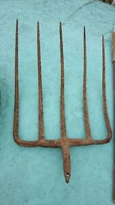 Antique Hay Rake Farm Pitch Fork Americana Collectible Primitive Decor