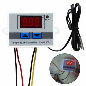 Xh w3001 12v 24v 220v Digital Temperature Thermostat Control Switch Probe 2018