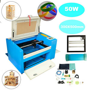Usb Port 50w Laser Engraving Machine Co2 Engraver Cutter Auxiliary Rotary Device