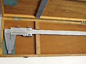 Mitutoyo Vernier Caliper 0 40 Range 102cm Stainless Steel Model 160 105 Japan