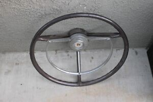 1957 Ford Car Steering Wheel Horn Ring H