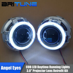 3 0 Hid Bi Xenon Projector Lens Led Daytime Running Lights Cob Angel Eyes Halo