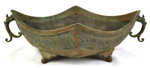 Antique Archaic Old Chinese Censer Bronze Incense Burner Mythical Animal Signed