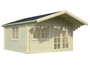 Bzb Log Cabin Kit Pool Or Garden House 12 3 x12 3 150 Sq ft Free Shipping