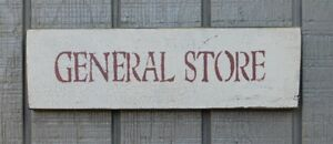 Primitive Vintage Wood Sign Or Shelf Sitter Reproduction General Store
