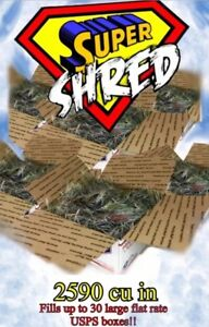 Super Shred Clean Newspaper Packing Shipping Filler 15 Cu Ft 25920 Cubic In