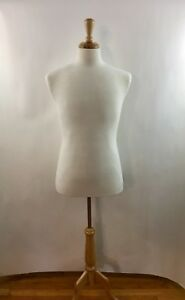 White Make Mannequin Fully Pinnable Torso Tripod Dress Form Base Mens Forsellers