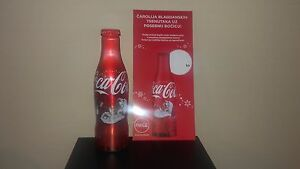 Coca cola 0,25l alu bottle Christmas Santa-Croatia Full bottle+paper flayer
