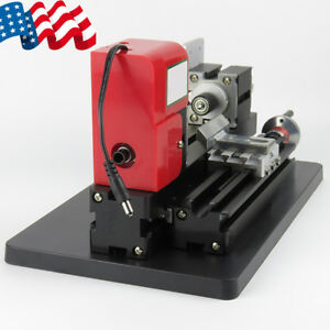 Diy Mini Metal Lathe Woodworking Tool Processing Motorized Machine 20000rpm Usa