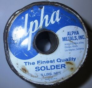 Alpha Metals Blue Label dx8868d Spool Of Solder 3 Lbs 6 Oz Just Reduced