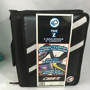 Case it Zipper Binder the Z Double 1 1 2 D Ring Binders Handle Strap Couponing
