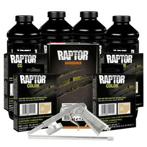 U Pol 821 4857 Beige 4l Raptor Spray On Truck Bed Liner Kit W Gun