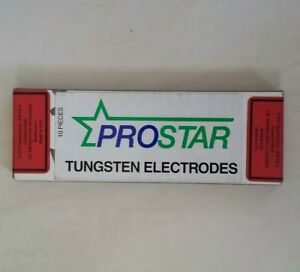10 Pc Prostar 2 Thoriated Tungsten Electrodes Red 1 8 X 7 Tig Made In Usa