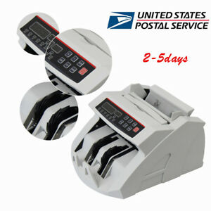 Money Bill Currency Counter Counting Machine Counterfeit Detector Uv Cash Bank