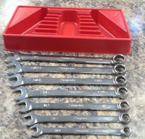 Snap On 7 Piece Sae Oex 12 Point Combination Wrench Set Excellent Cond
