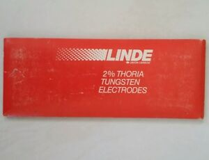 10 Pc Linde 2 Thoriated Tungsten Electrodes Red 1 16 X 7 Tig Made In Usa 84z19