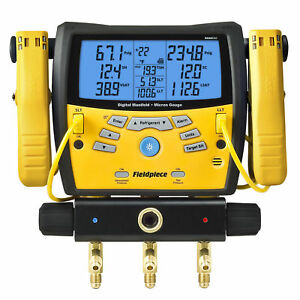 Fieldpiece Sman460 Wireless 4 Port Digital Manifold Micron Gauge