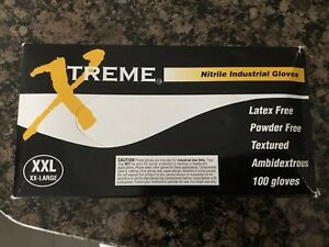 Xtreme Blue Nitrile Industrial Latex Free Disposable Gloves lot Of 6