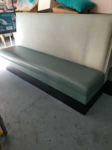 Used Restaurant Teal Booth Seating