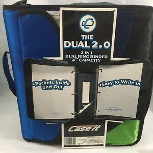 Case It Zipper Binder The Dual 2 0 3 Ring 4 Pockets Strap Handle Couponing 2n1