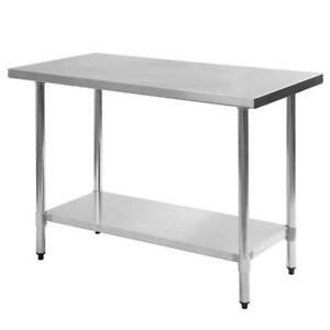 Two Stainless Steel Work Prep Table