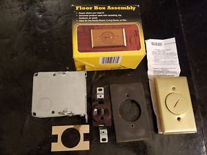 New In Box Raco Hubbell Floor Floor Box Assembly No 6236 New Box
