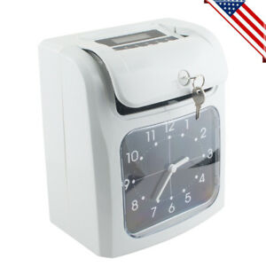 Office Employee Attendance Digital Time Clock Payroll Recorder Big Lcd Usa Stock