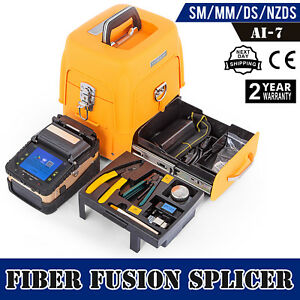 Ai 7 Fiber Optic Splicing Machine Fiber Fusion Splicer Kits Operation Ftth