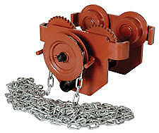 Vestil E mt 2 c Manual Chain Geared Trolley 2 000lb 2 1 2 x5 1 2 Beam Flange