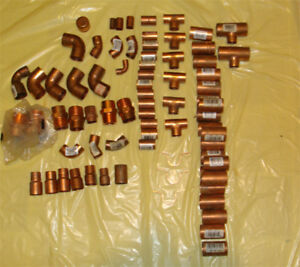 Nibco Copper Lot Plumbing Elbows Male Adapter Coupling Tee Reducer Resale