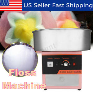 Pink Electric Cotton Sugar Candy Machine Floss Maker Commercial Carnival Party