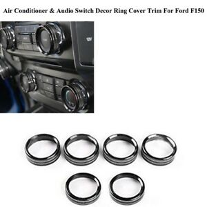For Ford F150 2016 2018 Air Conditioner Audio Switch Decor Ring Cover Trim Gl
