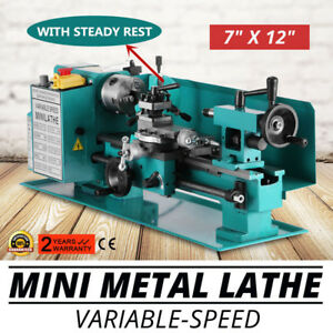 Mini Metal Lathe 7 X 12 with Center frame And Gears Brand New 0 2500rpm 110v